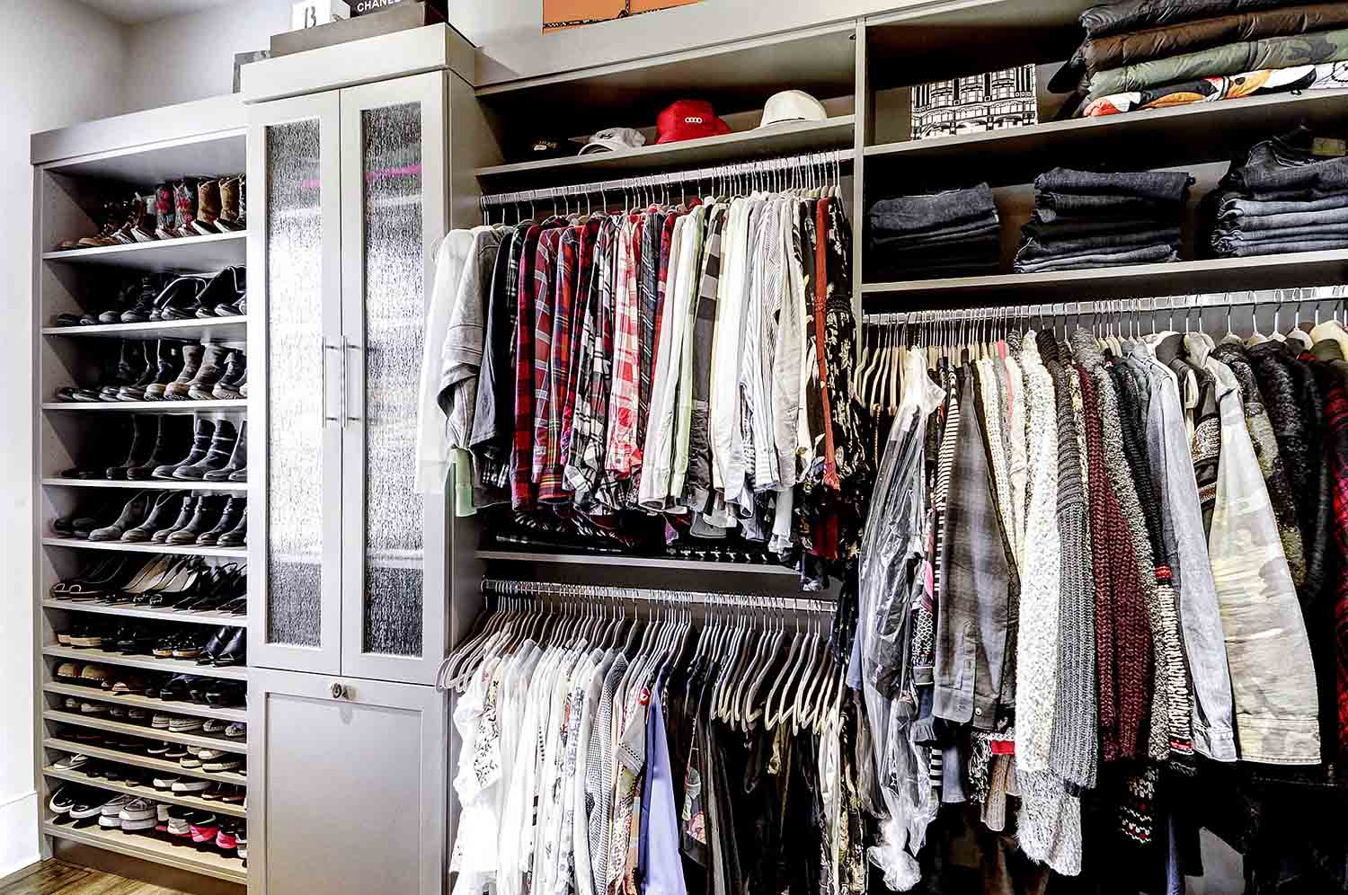 Walk In Closet with storage space maximized