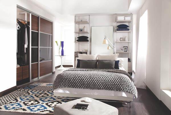bedroom closet design with sliding doors