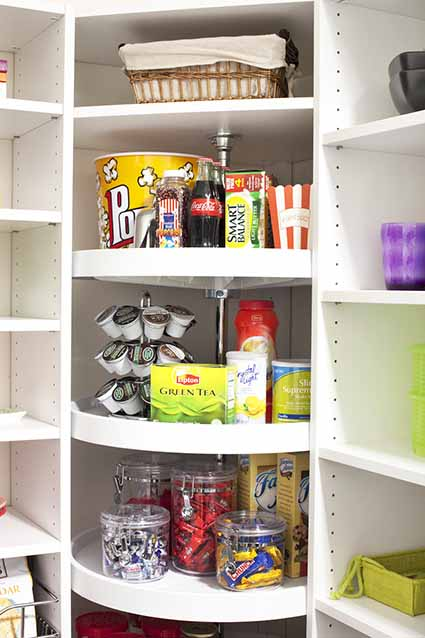 Featured Design Custom Walk in Pantry   Lazy Susan