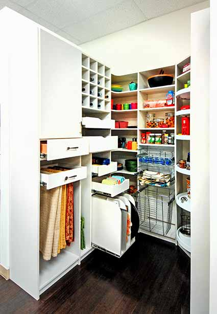 Featured Design Custom Walk in Pantry   Rollout Shelves