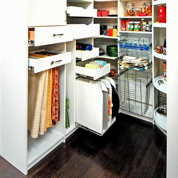 Featured Design Custom Walk in Pantry   Vertical Storage Slots