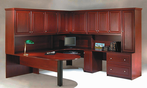 Home Office For Two   Cherry Wood with Peninsula