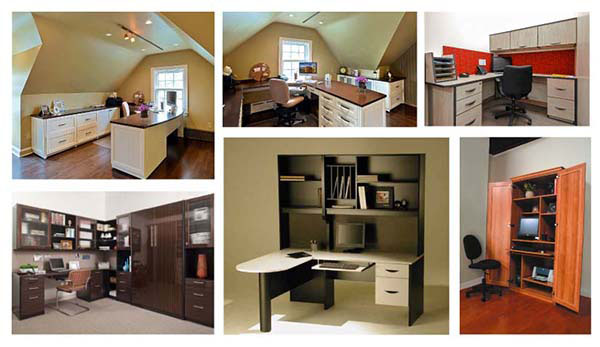 Home office design ideas collage