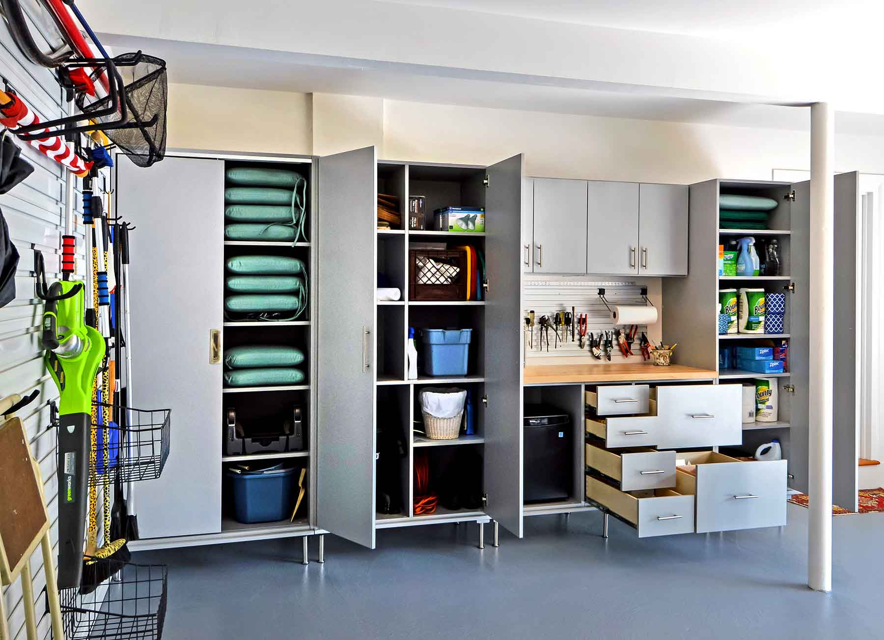 Neat And Organized Garage Space