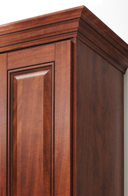Custom built cabinet with crown molding built with TFL