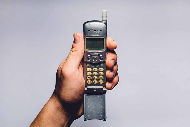 Old flip up cell phone