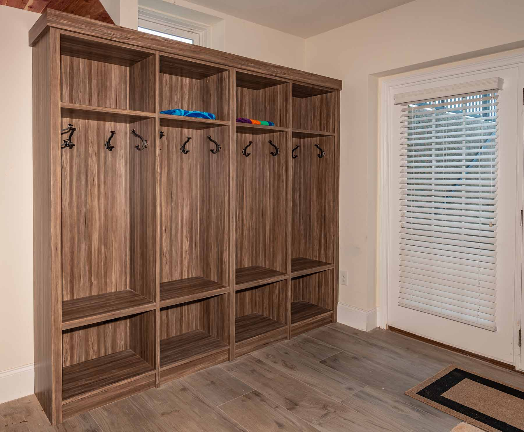 Orgnized mudroom with cubbies
