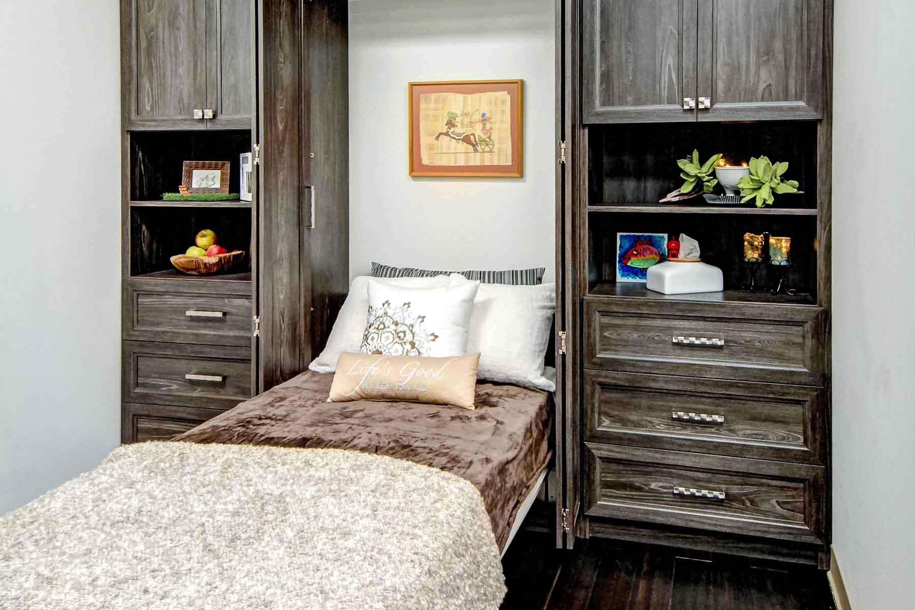 Murphy bed with bifold doors