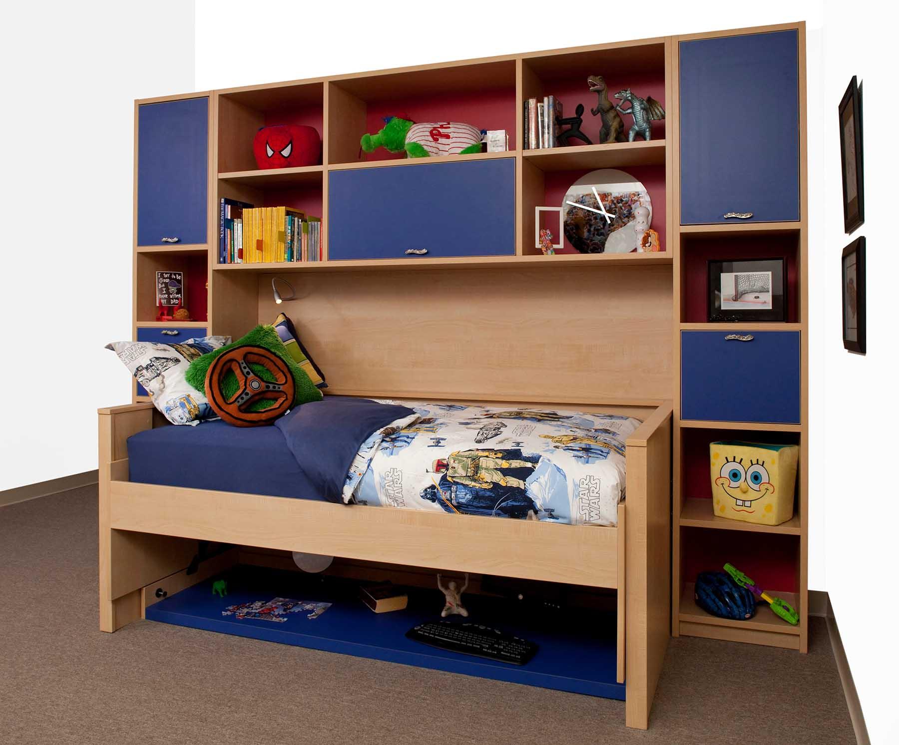 Space saving hidden bed