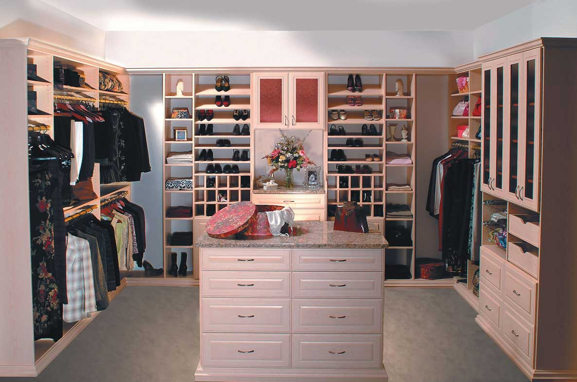 Womans walk-in closet system