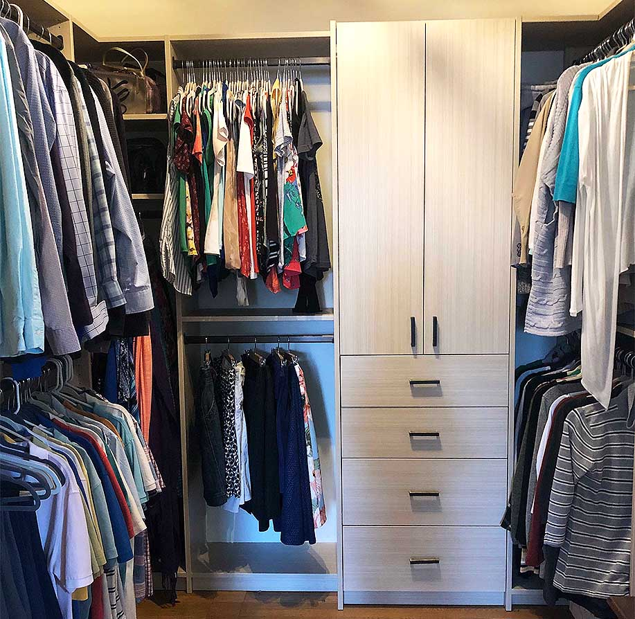 'Contained, Organized and Beautiful' Master Walk-in Closet