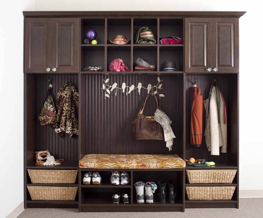 Organize Mudroom with mutiple storage options