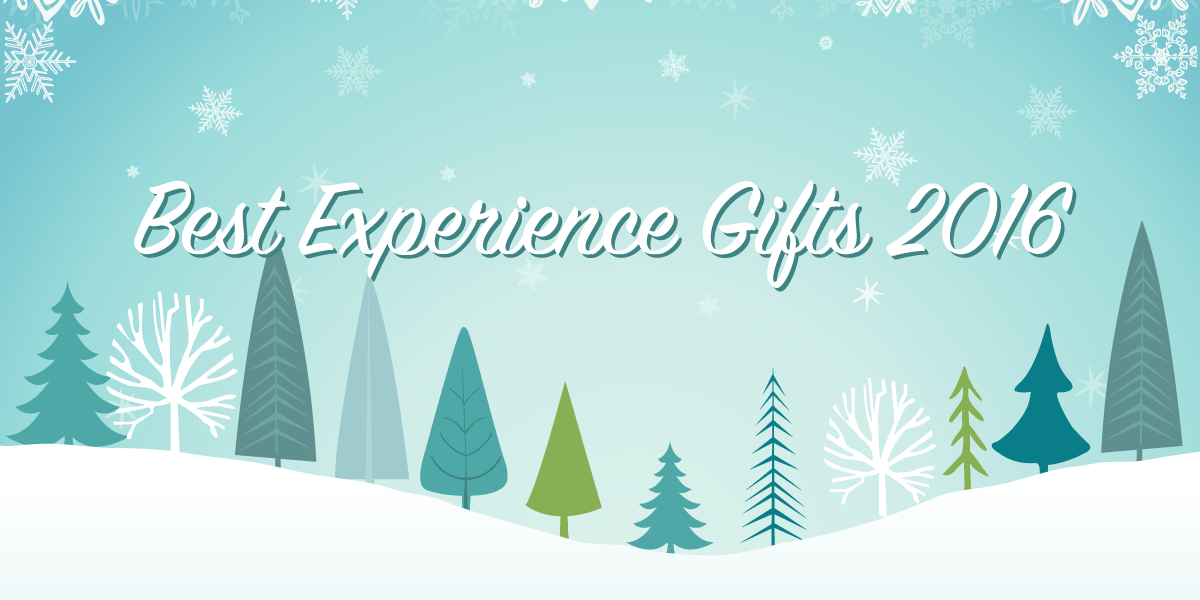Philly experience gifts spelled out on Holiday background