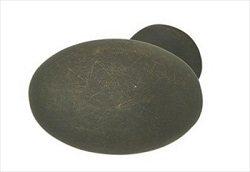 Flat Oval Knob, Oil Rubbed Bronze, (30x30x19)