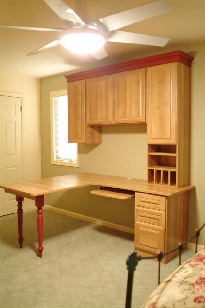 Traditional style custom built furniture in home office
