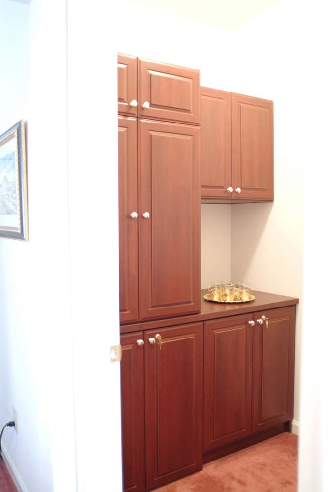 Custom cabinet furniture wall unit with bar area