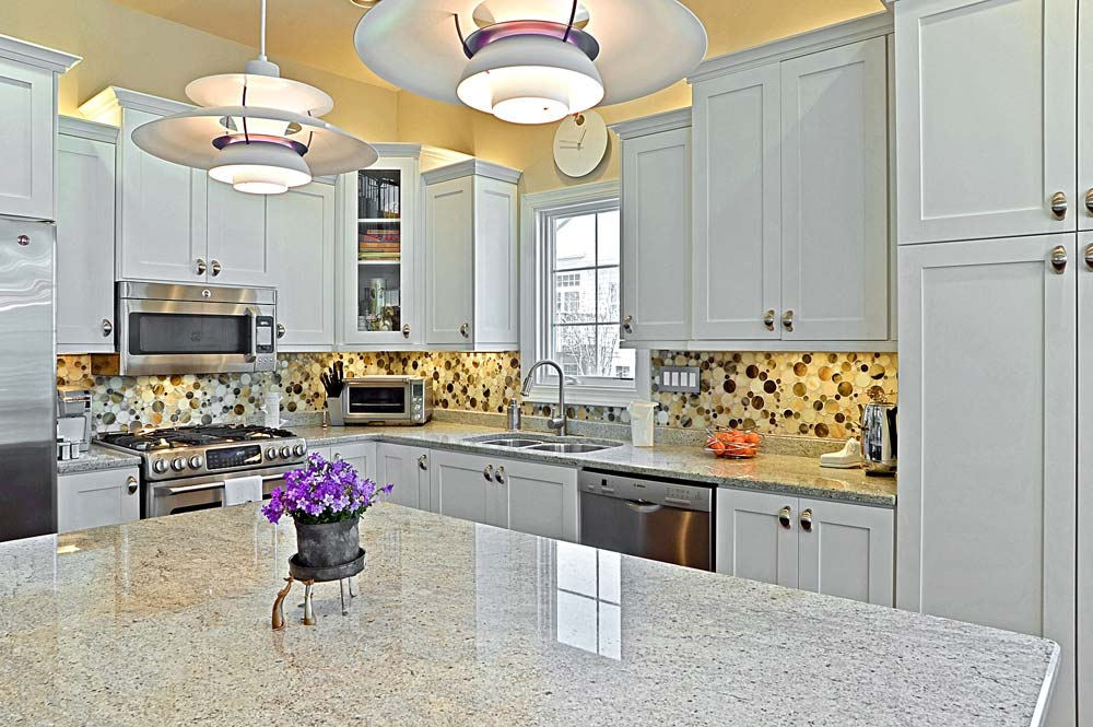 Custom built kitchen with custom cabients and countertops