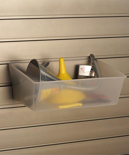 storeWALL large clear storage bins