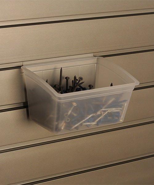 storeWALL small clear storage bins