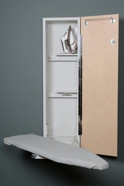 Iron-A-Way Wall Mount 42″ Ironing Board with cabinet