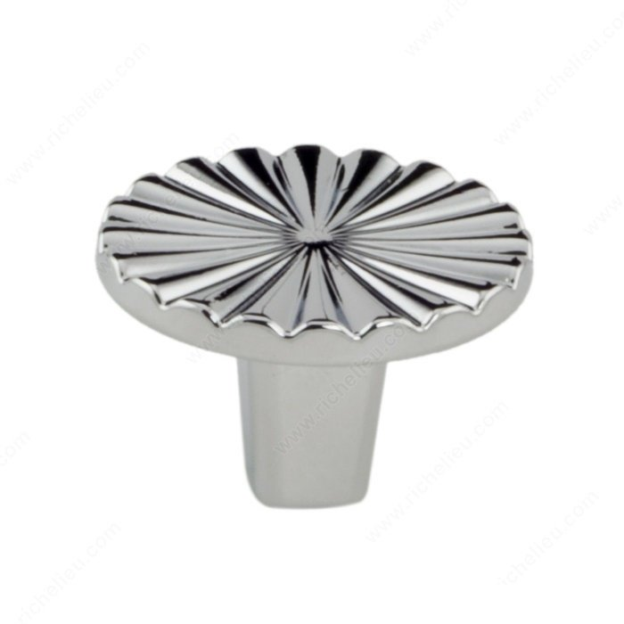 Sun Knob, Polished Chrome