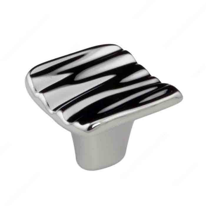 Ripple Knob, Polished Chrome