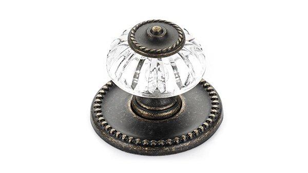 Victorian Knob, Acrylic/Burnished Brass