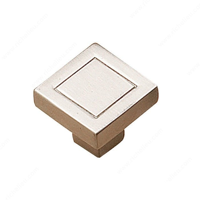 Box Knob, Brushed Nickel
