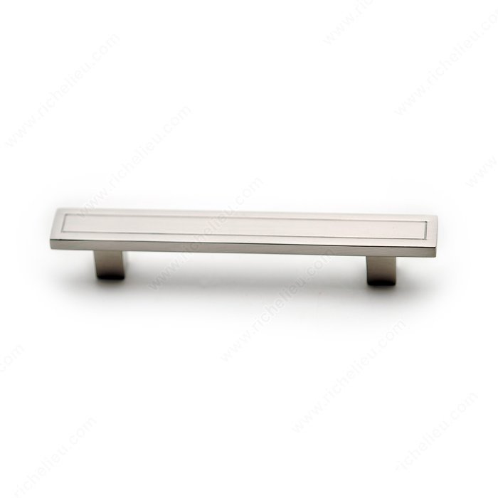 Box Pull, Brushed Nickel, 96mm