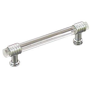 Tied Bar Pull, Crystal/Polished Chrome, 96mm