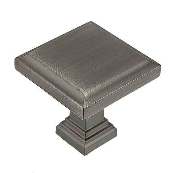 Raised Panel Knob, Antique Nickel