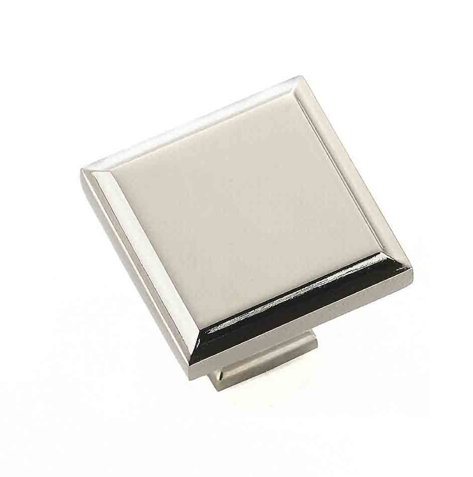 Raised Panel Knob, Polished Chrome