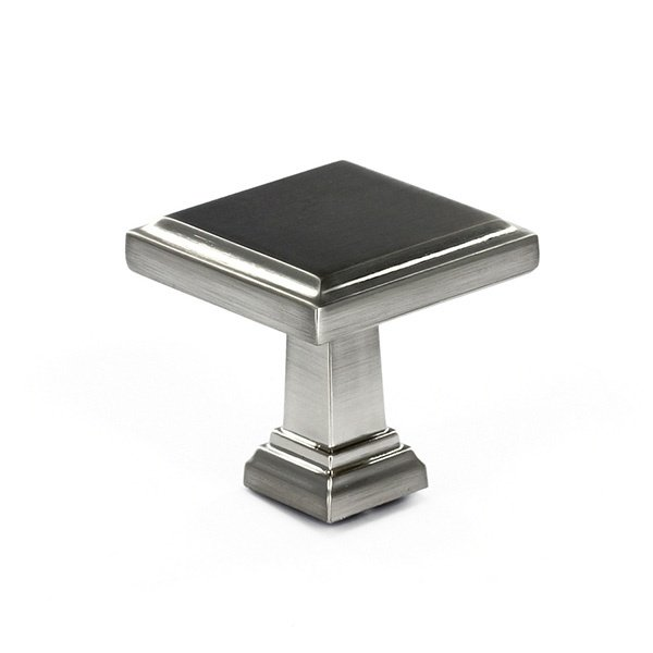 Raised Panel Knob, Satin Nickel