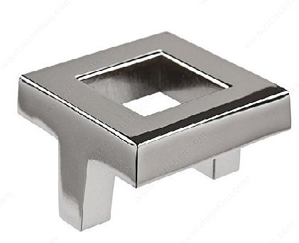 Square Pull, Polished Nickel, 38mm