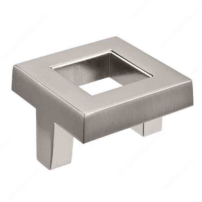 Square Pull, Brushed Nickel, 38mm