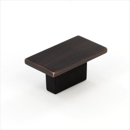 Rectangular Knob, Brushed Oil Rubbed Bronze, 16mm
