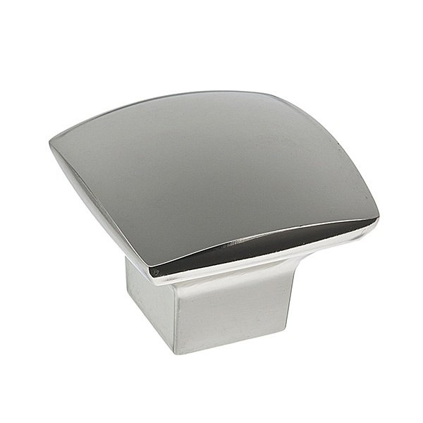 Tapered Square Knob, Polished Chrome
