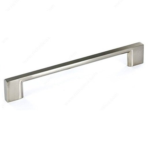Rectangular Pull, Brushed Nickel, 160mm