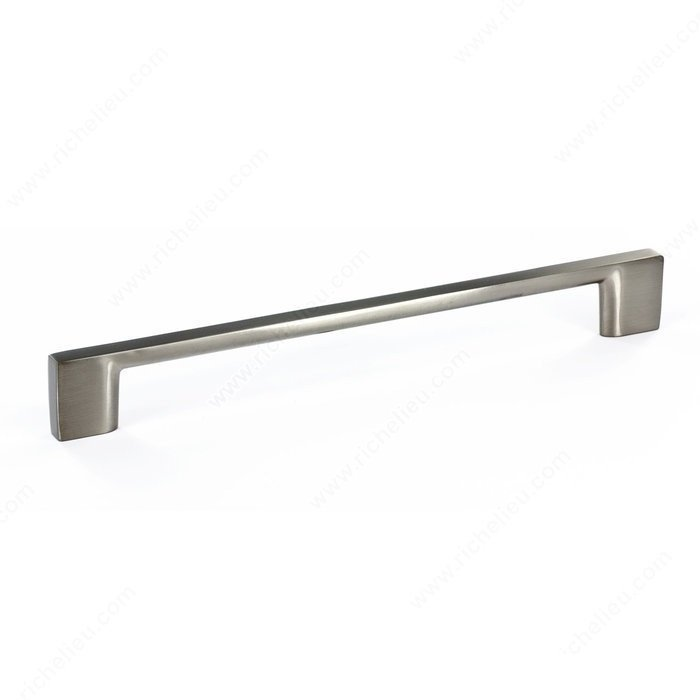 Rectangular Pull, Brushed Nickel, 192mm