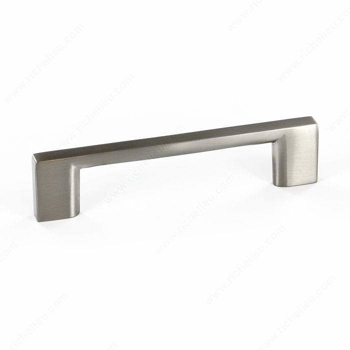 Rectangular Pull, Brushed Nickel, 96mm