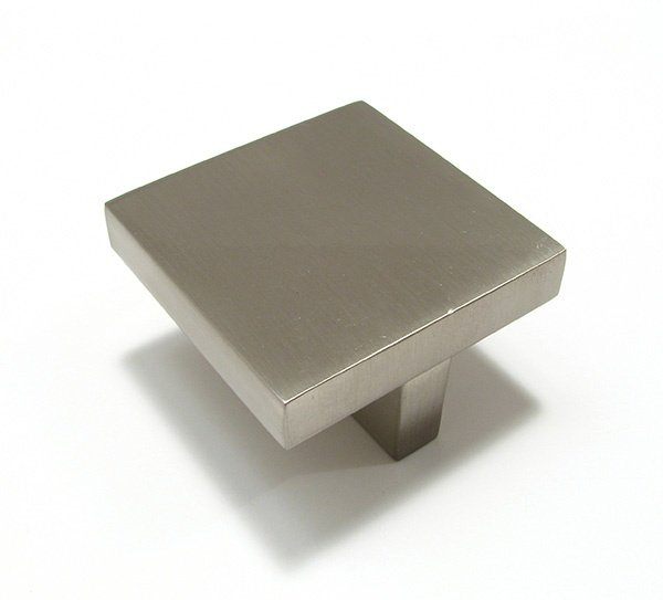 Contemporary Square Knob, Satin Nickel