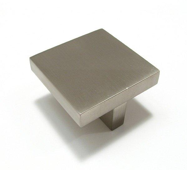 Contemporary Square Knob, Satin Nickel