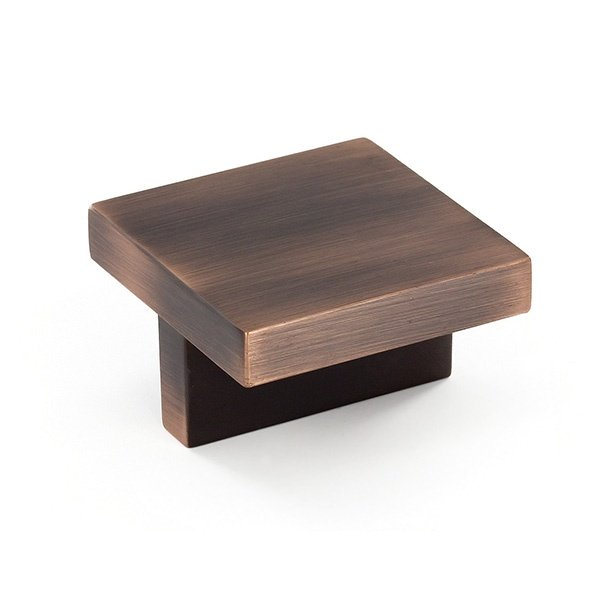 Contemporary Square Knob, Brushed Oil Rubbed Bronze