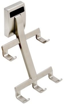 Wall Mount Synergy Belt Rack, Satin Nickel