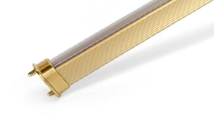 Concave Hourglass Closet Rod, Matte Gold