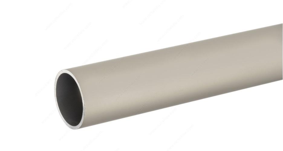 Round Closet Rod, Satin Nickel