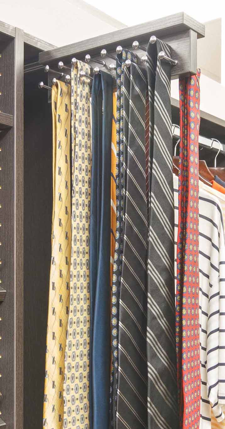 Custom In House Top Mount Tie Rack