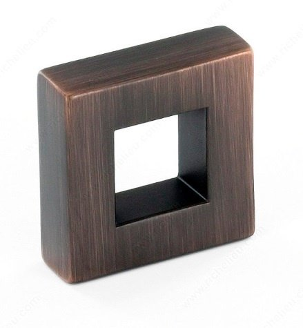 Frame Knob, Brushed Oil Rubbed Bronze