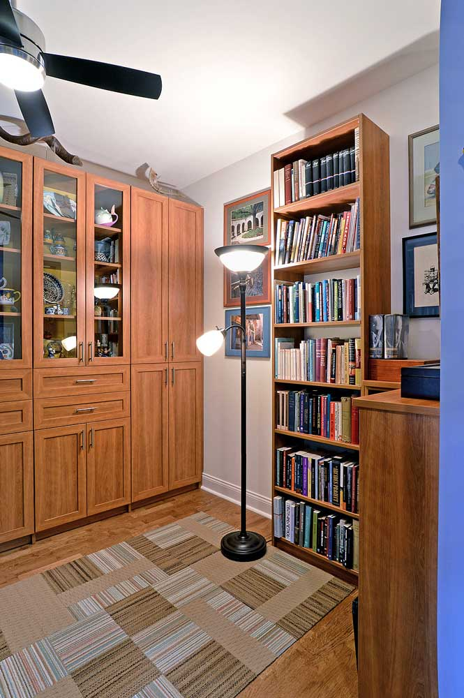 Custom bookcase unit in home office