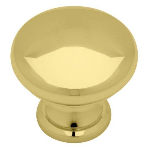 Standard Knob (Mushroom top), Polished Brass